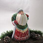 Сувениры и подарки handmade. Livemaster - original item Santa Claus with a large bag emerald. Handmade.