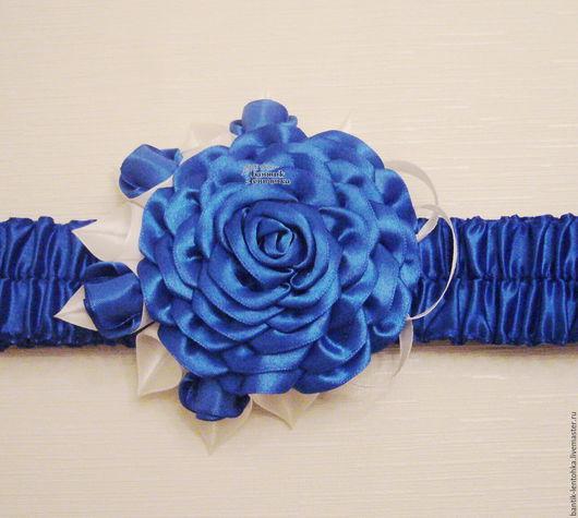 """Для новорожденных, ручной работы. Ярмарка Мастеров - ручная работа. Купить Бант на выписку из роддома """"Принц"""". Handmade. Синий"""