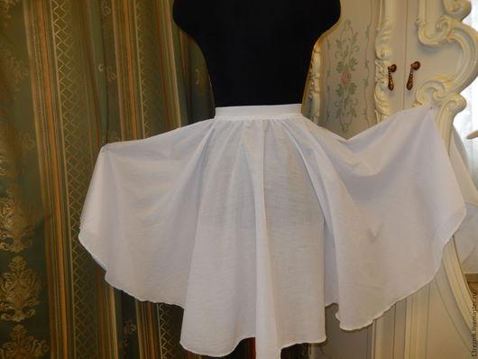 Юбки ручной работы. Ярмарка Мастеров - ручная работа. Купить Нижняя юбка.Короткая. Handmade. Белый, пошив на заказ