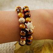 Украшения handmade. Livemaster - original item Set of bracelets made of tiger eye. Handmade.
