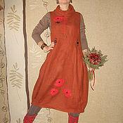 """Одежда ручной работы. Ярмарка Мастеров - ручная работа Бохо-сарафан """"Маковые мечты"""". Handmade."""