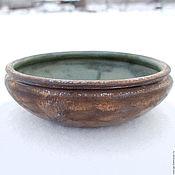 Посуда ручной работы. Ярмарка Мастеров - ручная работа Керамическая тарелка ручной работы под бронзу. Handmade.