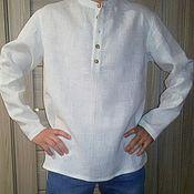 """Одежда ручной работы. Ярмарка Мастеров - ручная работа Мужская льняная рубашка """"Стойка"""". Handmade."""