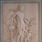 """Картины и панно ручной работы. Ярмарка Мастеров - ручная работа Панно """"Гречанка с ангелом"""". Handmade."""