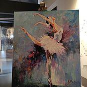 Картины и панно handmade. Livemaster - original item Painting ballerina oil painting 60 by 70 cm painting dance portrait. Handmade.