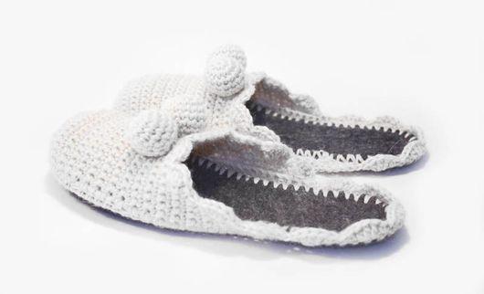 Handmade Shoes handmade. Livemaster - handmade. Buy Slippers from advertising 'Whiskas'.Slippers, advertising, wool slippers, slippers knitting