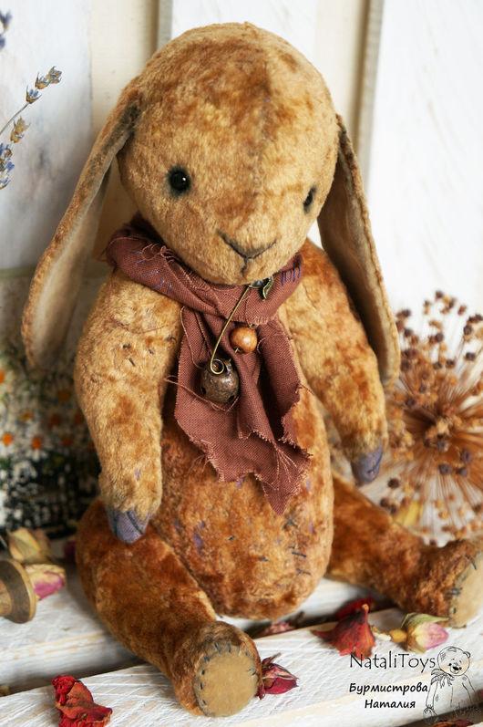 Мишки Тедди ручной работы. Ярмарка Мастеров - ручная работа. Купить Зайчик тедди Шуня. Handmade. Коричневый, зайчонок