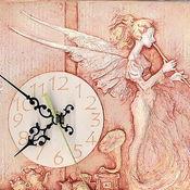 """Для дома и интерьера ручной работы. Ярмарка Мастеров - ручная работа Часы """"Ангел Хранитель"""". Handmade."""