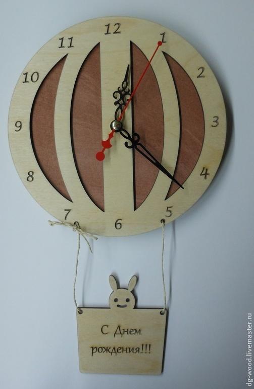"""Часы для дома ручной работы. Ярмарка Мастеров - ручная работа. Купить Настенные часы """"Воздушный шар"""". Handmade. Настенные часы"""