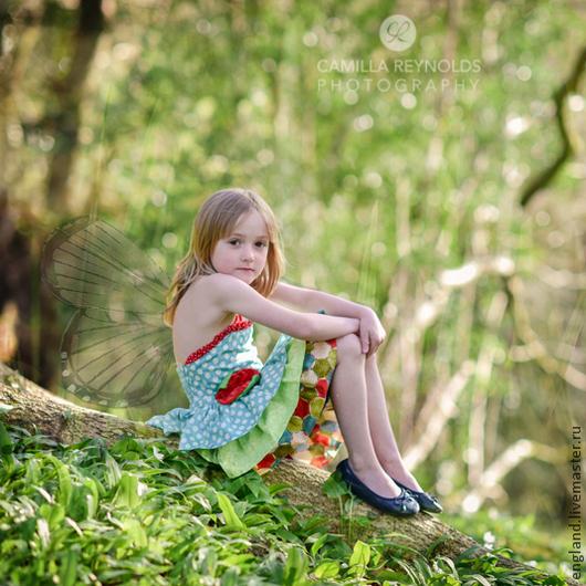 Одежда для девочек, ручной работы. Ярмарка Мастеров - ручная работа. Купить Платье сарафан для девочки с рюшками фея Хлопок. Handmade.