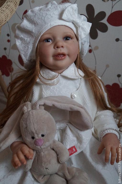 Куклы-младенцы и reborn ручной работы. Ярмарка Мастеров - ручная работа. Купить Анечка. Handmade. Белый, Молд