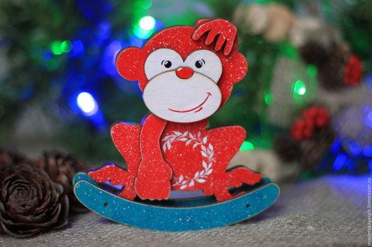 """Персональные подарки ручной работы. Ярмарка Мастеров - ручная работа. Купить Качалка обезьянка  """"Шимпанзе"""". Handmade. Комбинированный, обезьяна игрушка"""