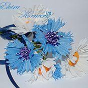 Украшения handmade. Livemaster - original item Cornflowers silk. Handmade.