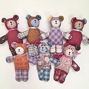 Куклы и игрушки handmade. Livemaster - original item Little teddy bear made of patchwork fabrics. Handmade.