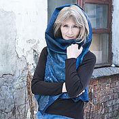Одежда handmade. Livemaster - original item Felted vest Blue. Handmade.