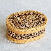 "Для дома и интерьера handmade. Livemaster - original item Шкатулка из бересты ""На удачу"". Коробочка для хранения мелочей. Handmade."