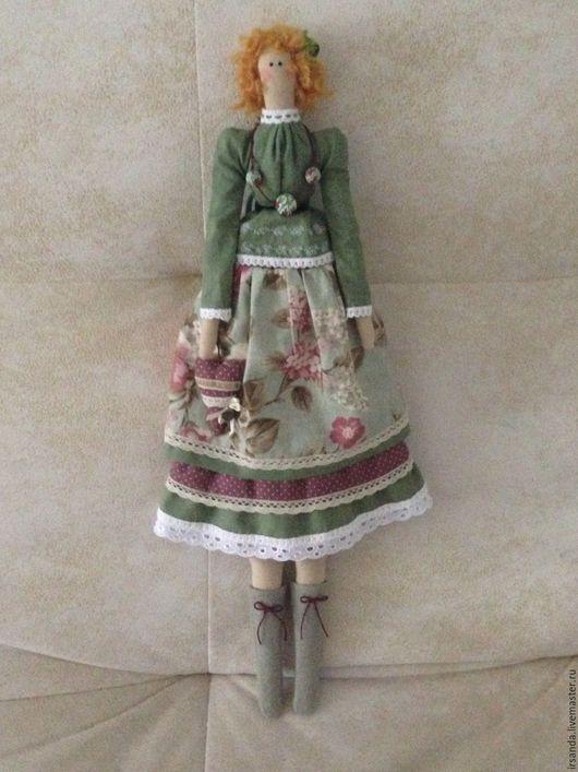 Куклы Тильды ручной работы. Ярмарка Мастеров - ручная работа. Купить Тильда кукла. Handmade. Бордовый, кружево