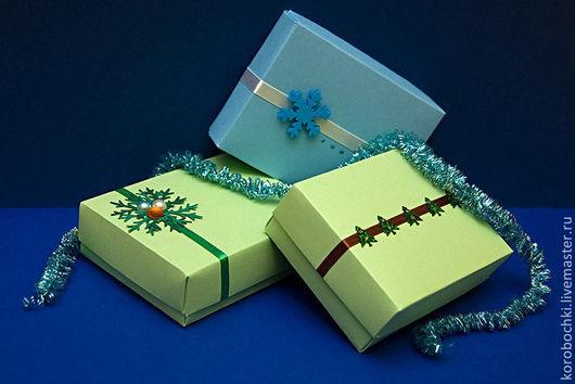 Подарочная упаковка ручной работы. Ярмарка Мастеров - ручная работа. Купить Коробочки новогодние 15х12,5х5 см. Handmade.