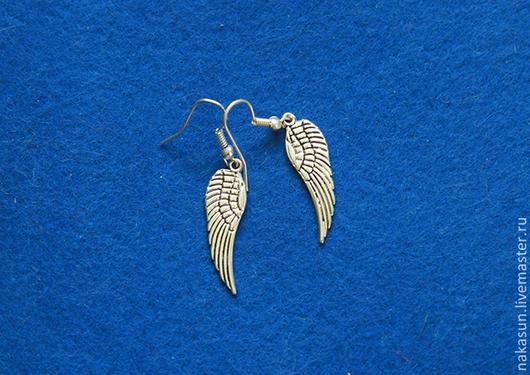Серьги ручной работы. Ярмарка Мастеров - ручная работа. Купить Серьги крылья. Handmade. Серебряный, крылья, ангел, птица