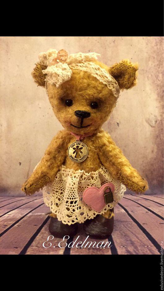 Мишки Тедди ручной работы. Ярмарка Мастеров - ручная работа. Купить Мишка Тедди Грушенька. Handmade. Желтый, teddy