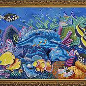 """Материалы для творчества ручной работы. Ярмарка Мастеров - ручная работа Набор для вышивания """"Подводный мир"""". Handmade."""
