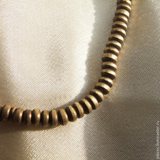 Для украшений ручной работы. Ярмарка Мастеров - ручная работа. Купить Бусины разделители бронза (37). Handmade. Коричневый