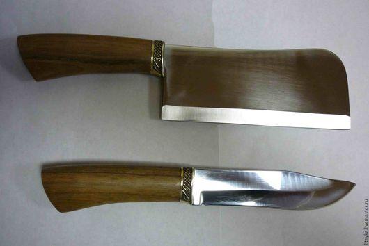 Подарки для мужчин, ручной работы. Ярмарка Мастеров - ручная работа. Купить Нож и тяпка для мяса.. Handmade. Коричневый, набор для шашлыка