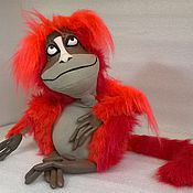 Куклы и игрушки ручной работы. Ярмарка Мастеров - ручная работа огненная обезьяна. Handmade.