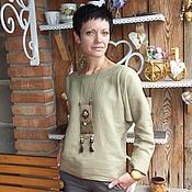 """Одежда ручной работы. Ярмарка Мастеров - ручная работа Блуза-бохо""""Оттенки"""". Handmade."""