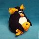 """Вязание ручной работы. МК Пингвин (серия """"шарики""""). AmigurumiFair. Ярмарка Мастеров. Пингвин спицами, сувенир, акрил, бусины"""