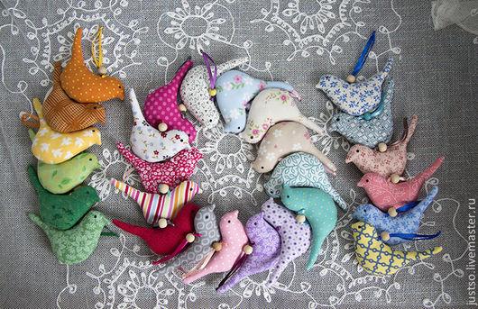 Куклы Тильды ручной работы. Ярмарка Мастеров - ручная работа. Купить Птички текстильные. Handmade. Птички, хлопок