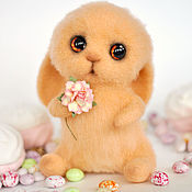 Куклы и игрушки handmade. Livemaster - original item Felted toy Bunny Marshmallow. Handmade.