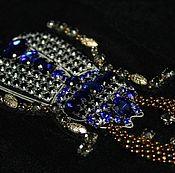 Материалы для творчества handmade. Livemaster - original item The embroidery is with crystals style Roshas. Handmade.
