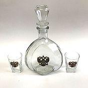 Посуда handmade. Livemaster - original item decanter glasses, under vodka (cognac) set.. Handmade.