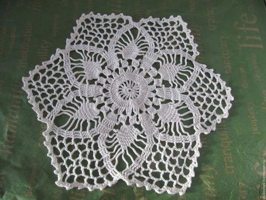 Текстиль, ковры ручной работы. Ярмарка Мастеров - ручная работа. Купить Салфетка 1. Handmade. Белый, салфетка, салфетка крючком