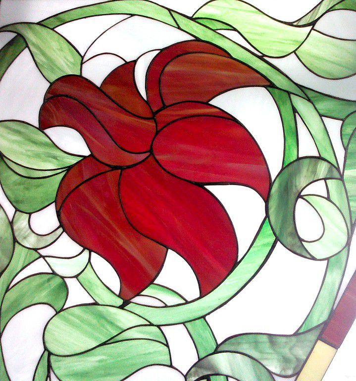 Interior Items handmade. Livemaster - handmade. Buy The Scarlet Flowers. Stained glass.Handmade, expensive gift