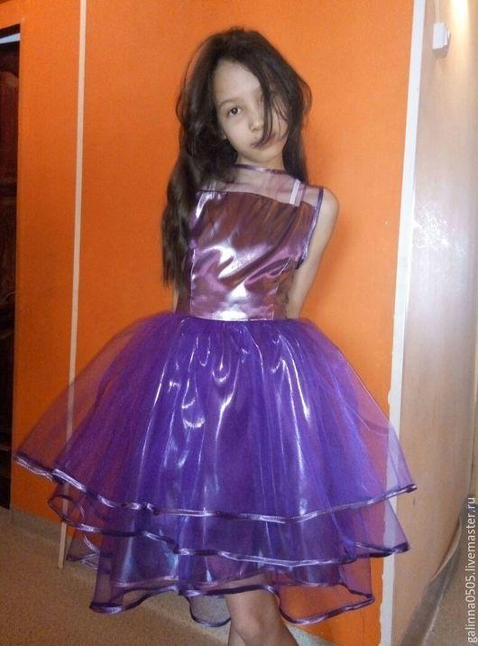 Платья ручной работы. Ярмарка Мастеров - ручная работа. Купить Платье для девочки. Handmade. Сиреневый, Праздничный наряд, вечернее платье
