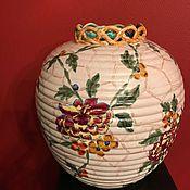 Винтаж handmade. Livemaster - original item Porcelain vase