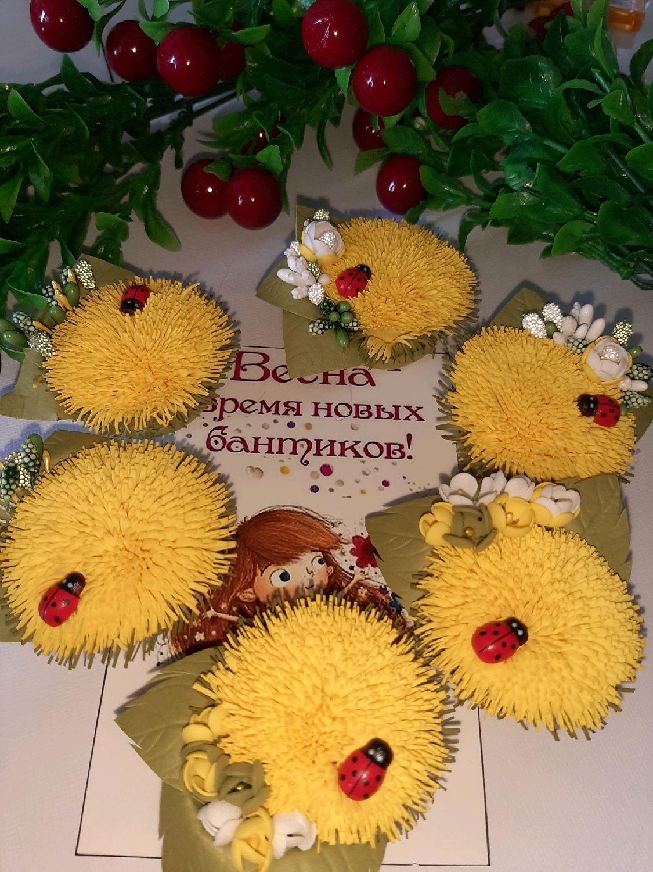 Цветочки-бантики, Резинка для волос, Москва,  Фото №1