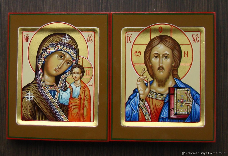 Икона Венчальная пара (рукописная), Иконы, Вязники,  Фото №1
