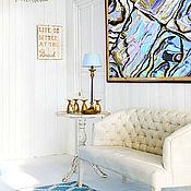 Картины и панно handmade. Livemaster - original item Abstract painting in marine style interior mother of Pearl. Handmade.