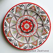 Посуда handmade. Livemaster - original item The interior plate, Berry. Hand painted. Handmade.