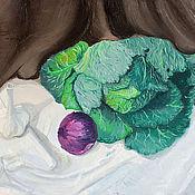 Картины и панно ручной работы. Ярмарка Мастеров - ручная работа натюрморт  с капустой. Handmade.