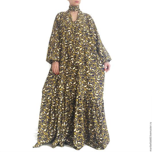 Платья ручной работы. Ярмарка Мастеров - ручная работа. Купить BOHO CHIC длинное платье в пол бохо. Handmade. Комбинированный