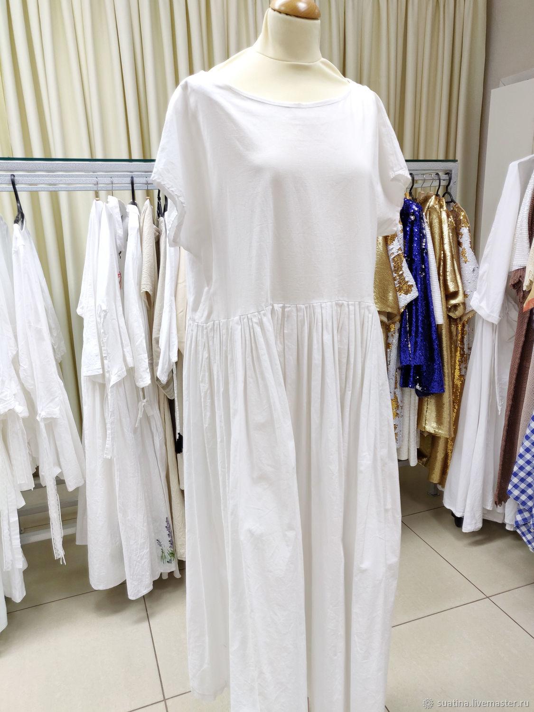 Платье с коротким рукавом из испанского хлопка, Платья, Пермь,  Фото №1