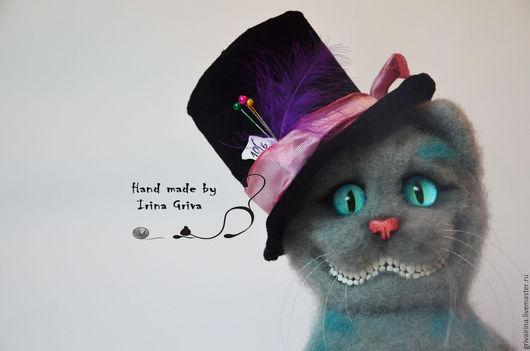 Игрушки животные, ручной работы. Ярмарка Мастеров - ручная работа. Купить Чеширский кот. Handmade. Серый, валяный чеширский кот