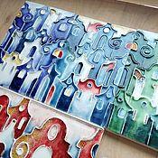 Для дома и интерьера handmade. Livemaster - original item Tiles European town. Handmade.