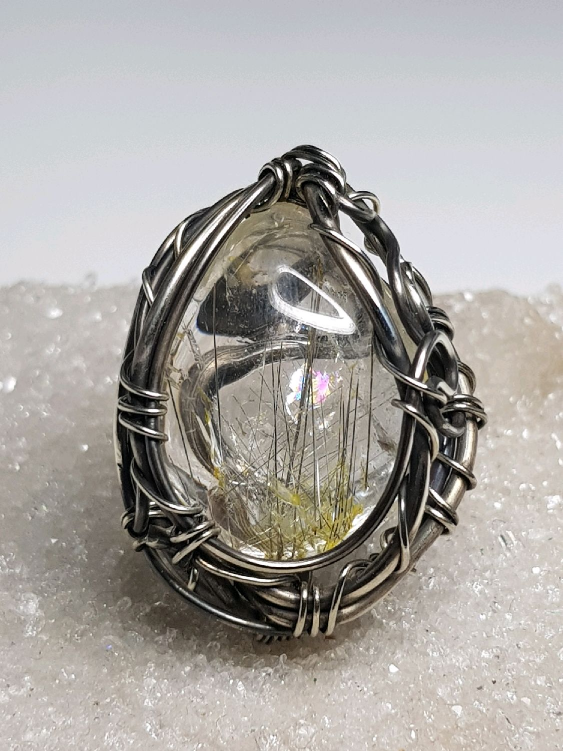 Ring with quartz rutile, rutilated the, Rings, Voronezh,  Фото №1