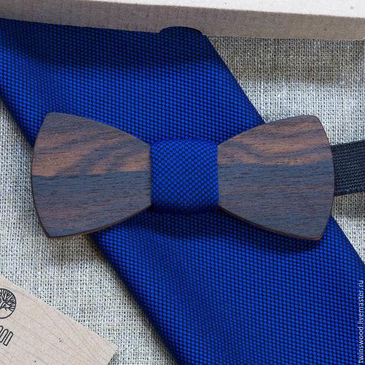 Деревянная бабочка из мексиканского зирикота + платок для пиджака