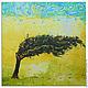 """Этно ручной работы. """"Desert tree"""" 90х90 см большая картина маслом мастихином. SLEEPWALKERS. Интернет-магазин Ярмарка Мастеров."""